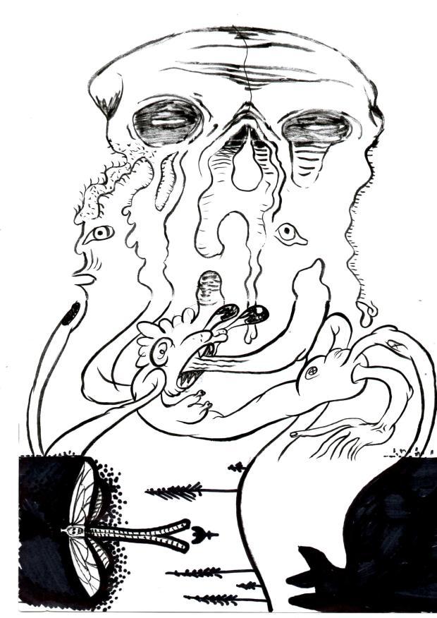 Cadavere squisito. Dall'Alto: Dissenso Cognitivo; Francesco Cornacchia; Oral Giacomini; Sedi G.